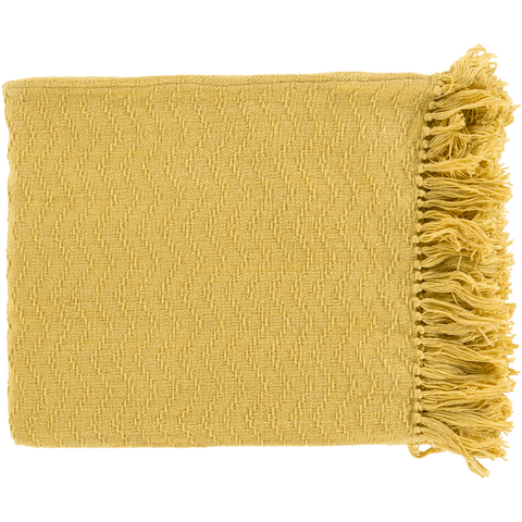 Gayley Woven Throw BRIGHT YELLOW