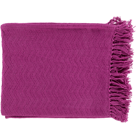 Gayley Woven Throw BRIGHT PINK