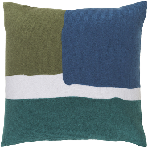 Geffen Pillow GREEN/BLUE/TEAL