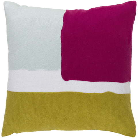 Geffen Pillow GREY/PINK/LIME