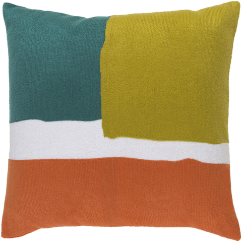 Geffen Pillow TEAL/LIME/ORANGE