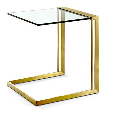 Goldie Side Table GLASS/GOLD - Apt2B