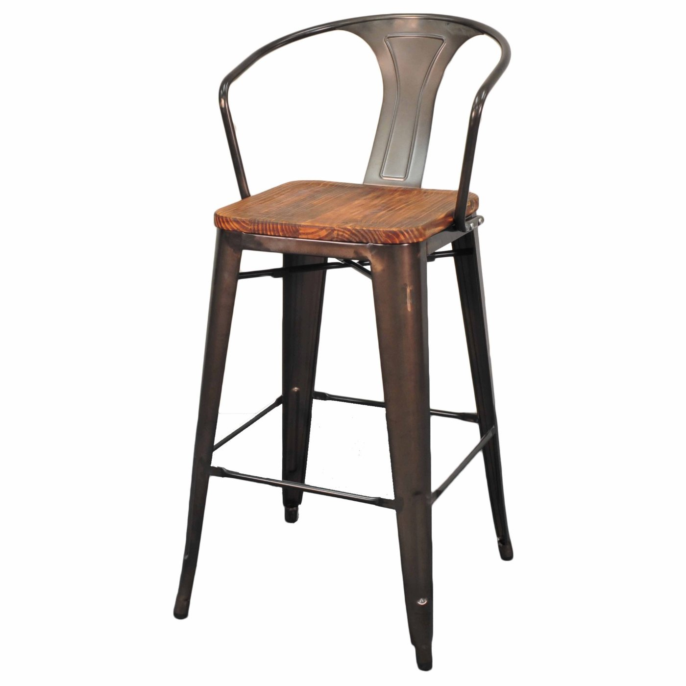 Grand Metal Bar Chair Set Of 4 Gunmetal Shoppingscanner