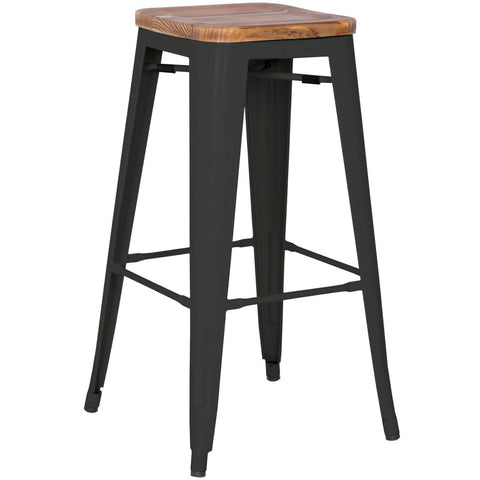Grand Metal Bar Stool- Set of 4 BLACK - Apt2B