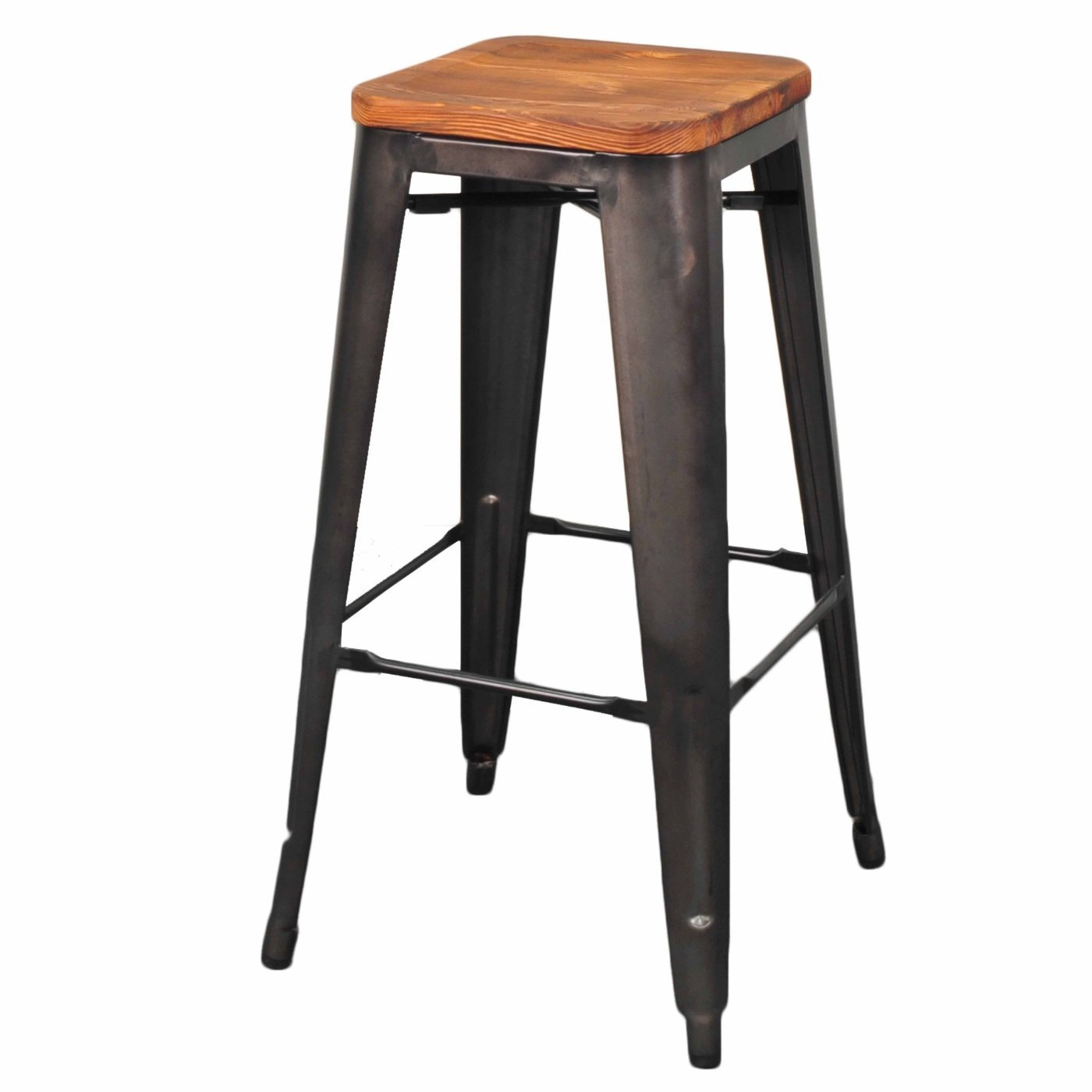Grand Metal Bar Stool- Set of 4 GUNMETAL