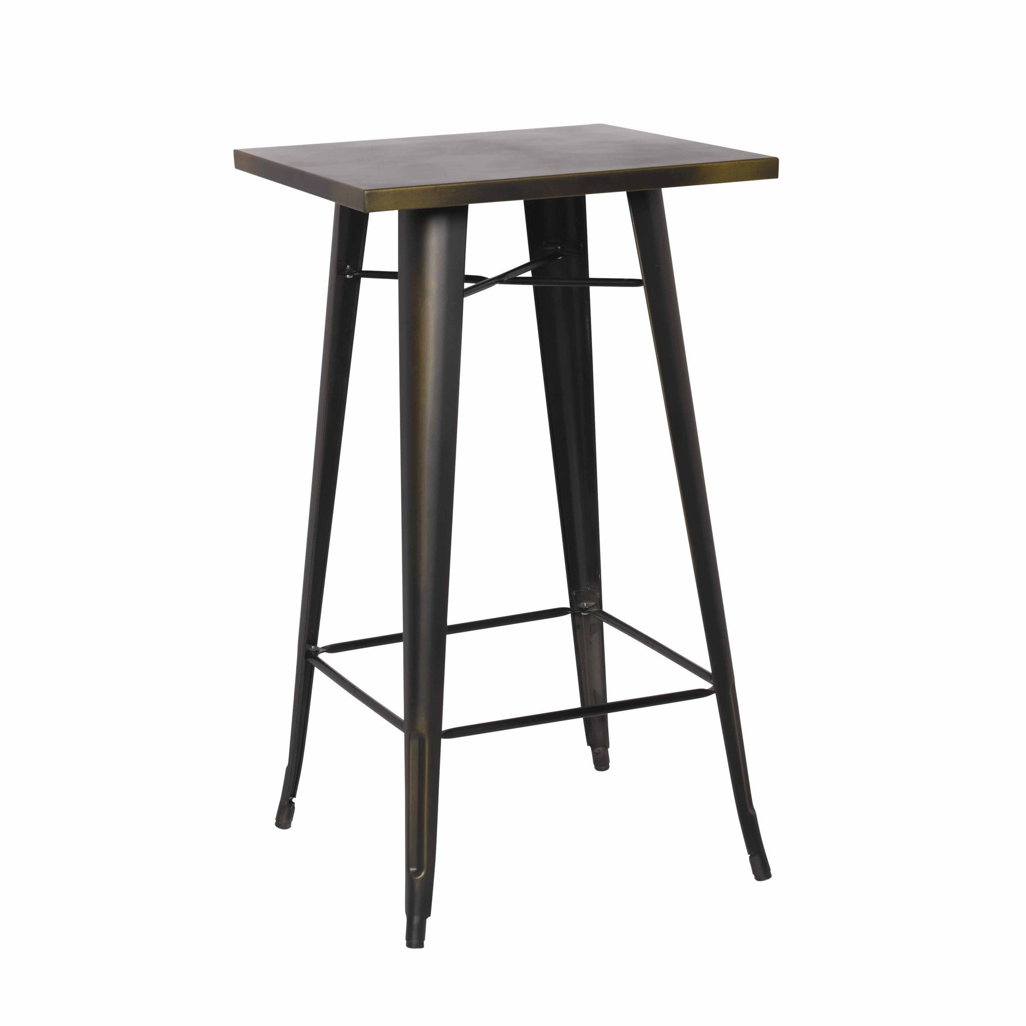 Oxford Metal Bar Table DISTRESSED COPPER