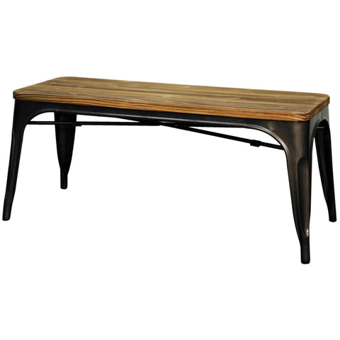 Grand Metal Bench Set of 2 GUNMETAL - Apt2B
