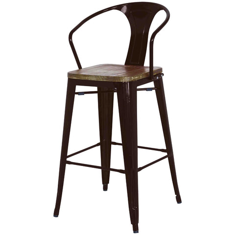Grand Metal Counter Chair- Set of 4 BLACK - Apt2B
