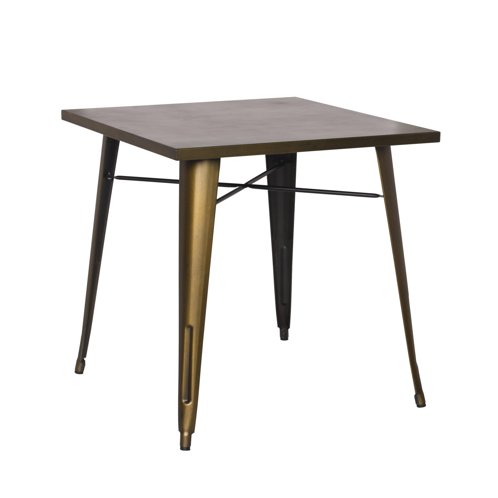 Oxford Metal Square Dining Table BRUSHED COPPER