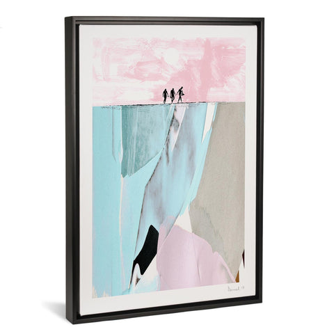 Surfers By Dan Hobday FRAMED CANVAS