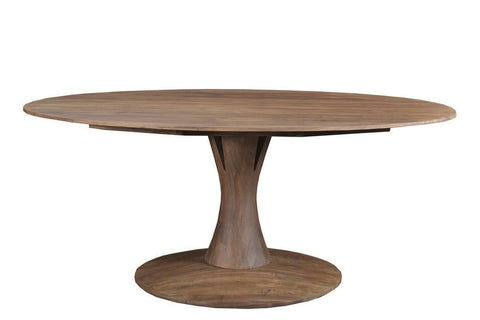 Hobart Oval Dining Table LIGHT BROWN