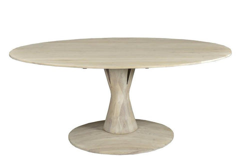 Hobart Oval Dining Table WHITE
