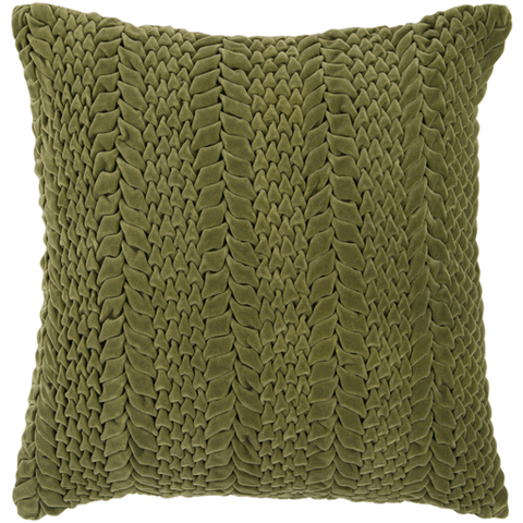 Horizon Velvet Pillow DARK GREEN