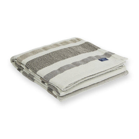 Kerrick Stripe Cotton Throw by Faribault GREY