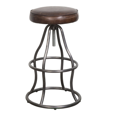 Levett Adjustable Bar Stool VINTAGE BROWN
