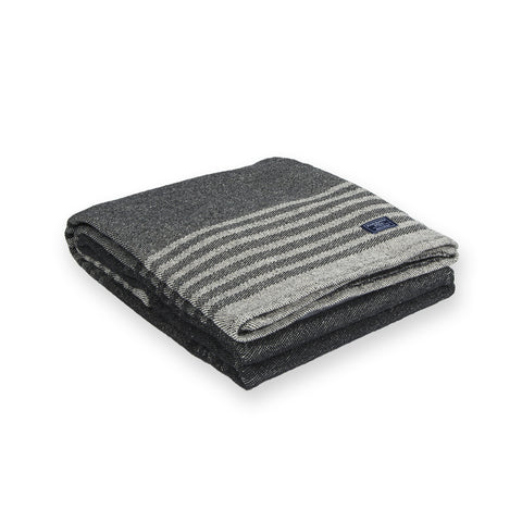 Eco-Woven Cotton Linear Stripe Throw by Faribault GREY
