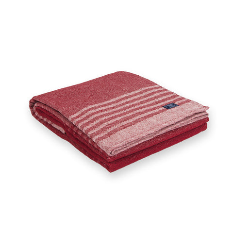 Eco-Woven Cotton Linear Stripe Throw by Faribault RED