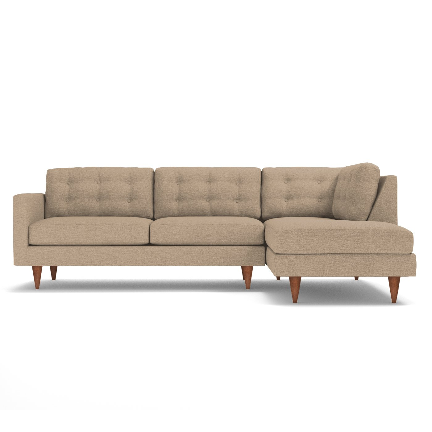 Logan 2 Piece Sectional Sofa Choice of Fabrics Apt2B