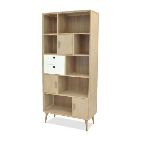 Mabel Bookcase WHITE/NATURAL - Apt2B - 1