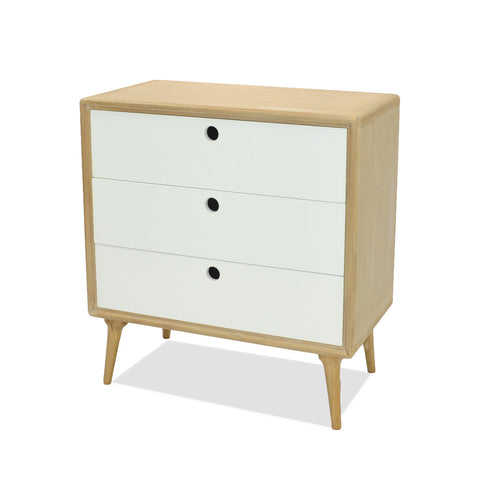 Mabel Small Cabinet White/Natural - Apt2B - 1