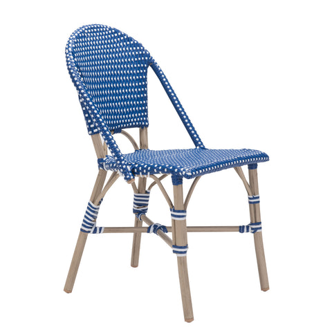 Mar Vista Outdoor Side Chair - Set of 2 BLUE/WHITE