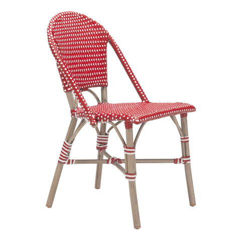 Mar Vista Outdoor Side Chair - Set of 2 RED/WHITE