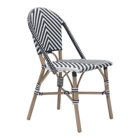 Mar Vista Outdoor Side Chair - Set of 2 BLACK/WHITE