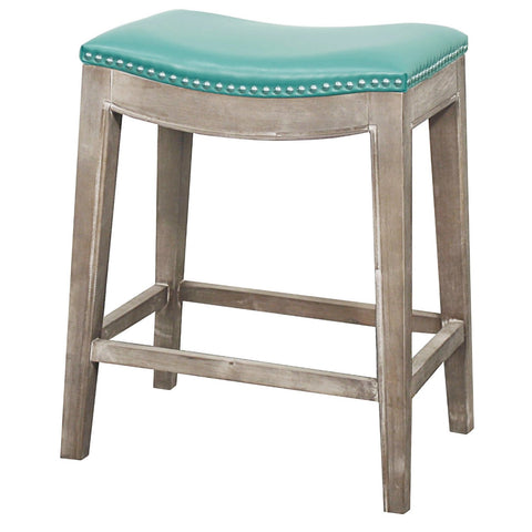Mesa Counter Stool RUSTIC GREY/TURQUOISE - Apt2B