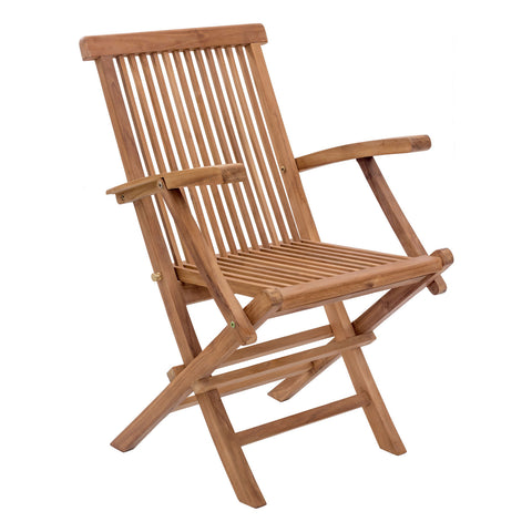 Misty Isle Outdoor Folding Arm Chair - Set of 2