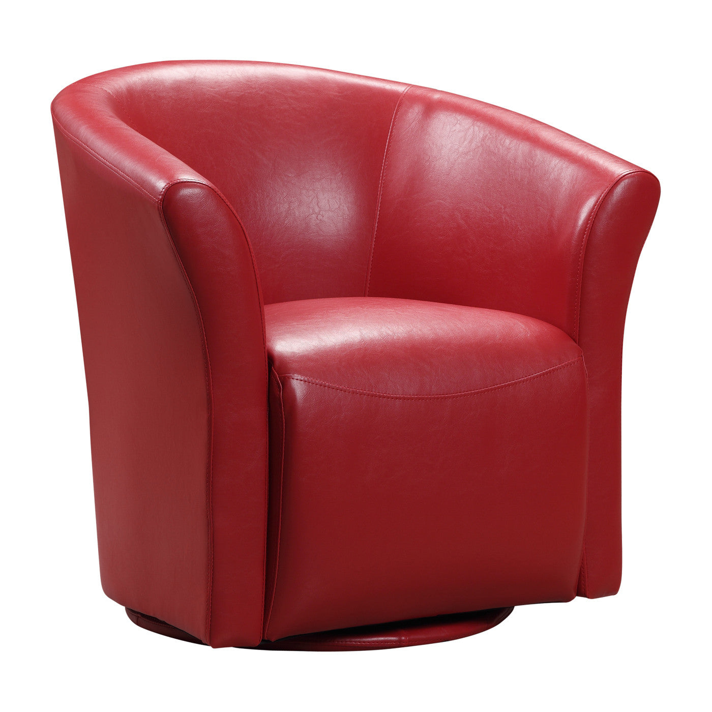 Murphy Swivel Accent Chair - RED