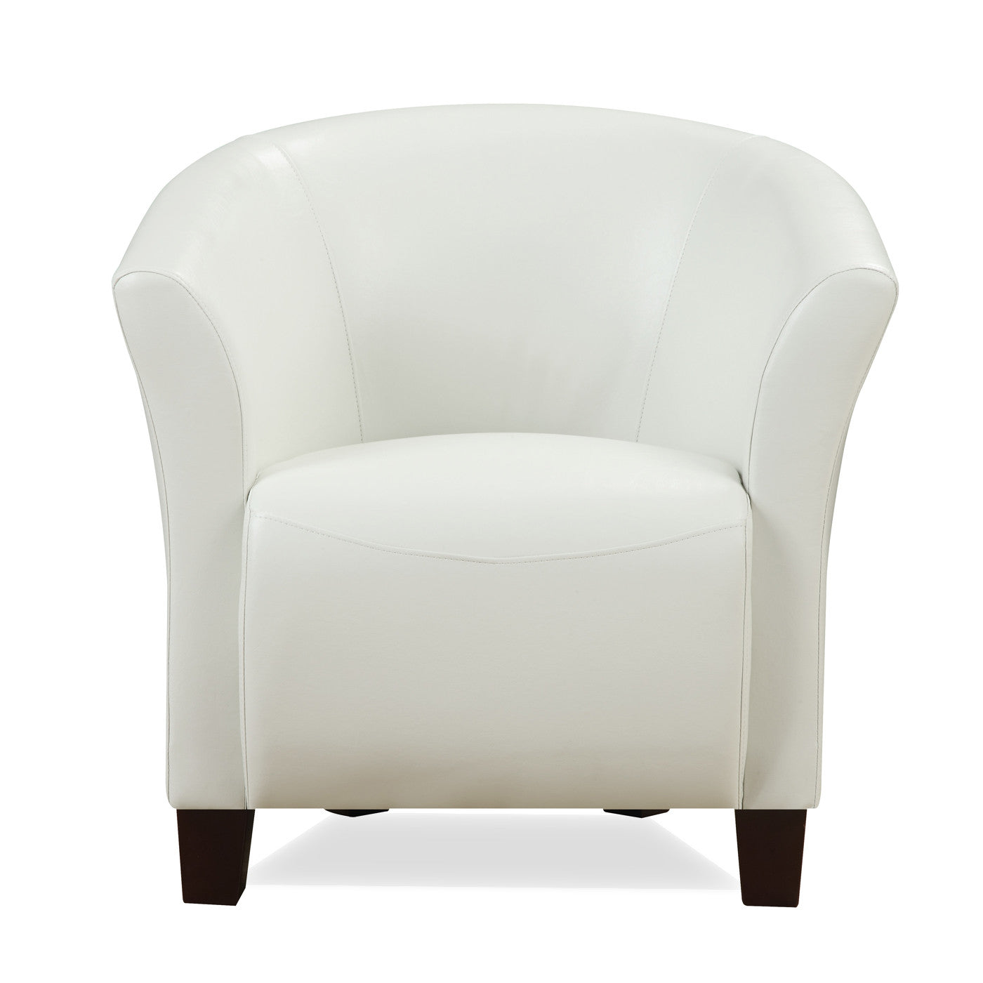 Murphy Accent Chair - WHITE FAUX LEATHER