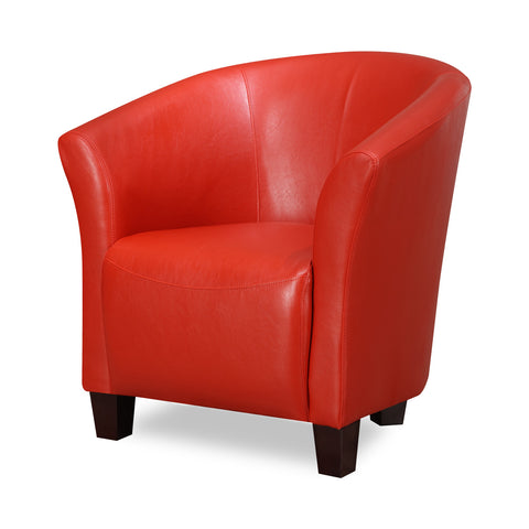 Murphy Accent Chair - RED FAUX LEATHER - Apt2B - 1