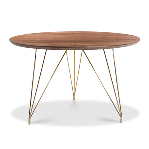 Thayer Dining Table WALNUT/BRUSHED GOLD - Apt2B