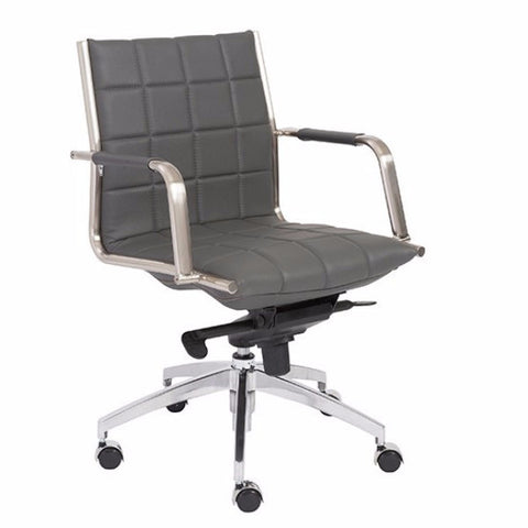 Newman Low Back Office Chair GREY - Apt2B - 1