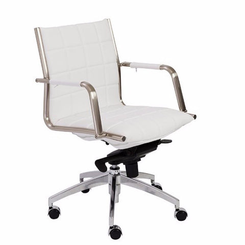 Newman Low Back Office Chair WHITE - Apt2B - 1