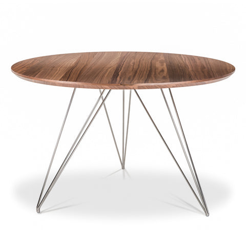 Thayer Dining Table WALNUT/POLISHED STEEL - Apt2B