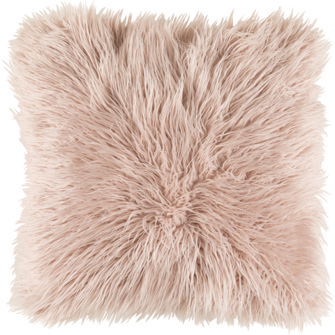 Ophelia Shag Pillow BLUSH