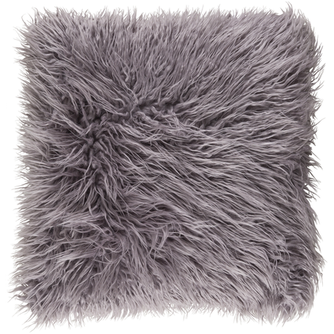 Ophelia Shag Pillow LIGHT GREY