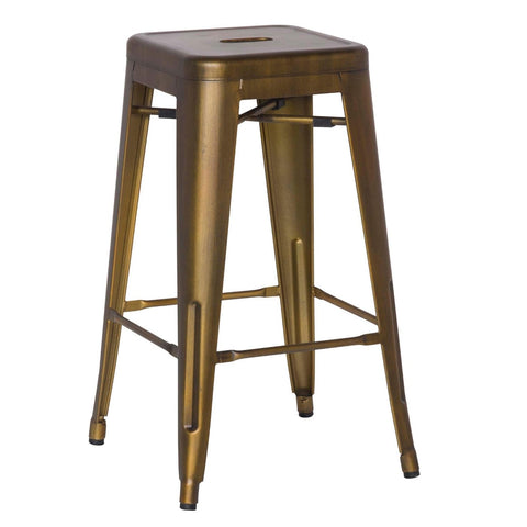 Oxford Metal Counter Stool- Set of 4 BRUSHED COPPER - Apt2B - 1
