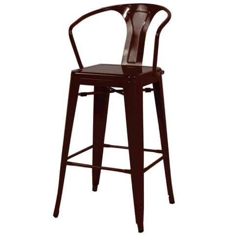 Oxford Metal Counter Chair- Set of 4 BLACK - Apt2B