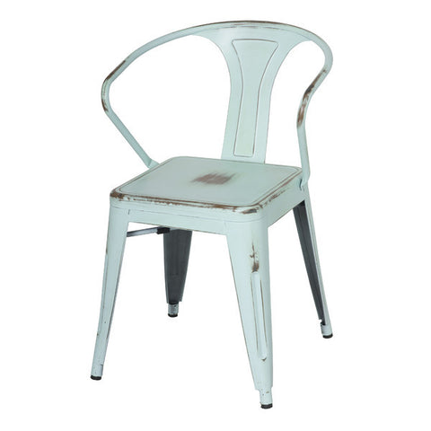 Oxford Metal Arm Chair- Set of 4 DISTRESSED BLUE - Apt2B