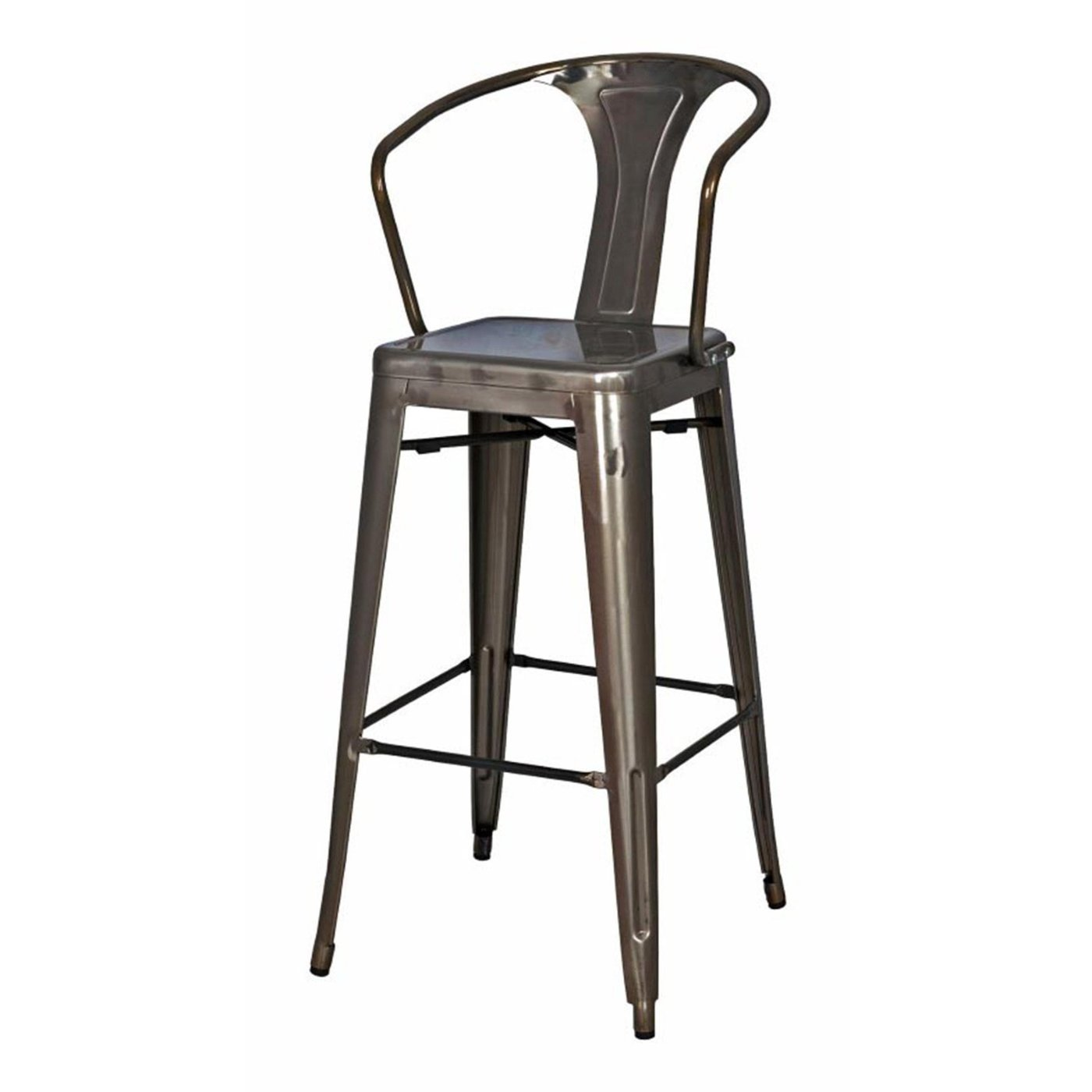 Oxford Metal Counter Chair- Set of 4 GUNMETAL