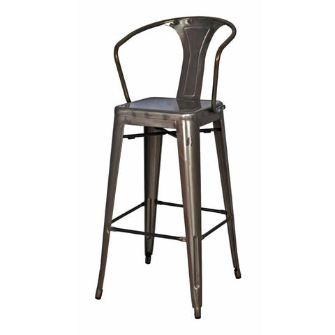 Oxford Metal Counter Chair- Set of 4 GUNMETAL - Apt2B