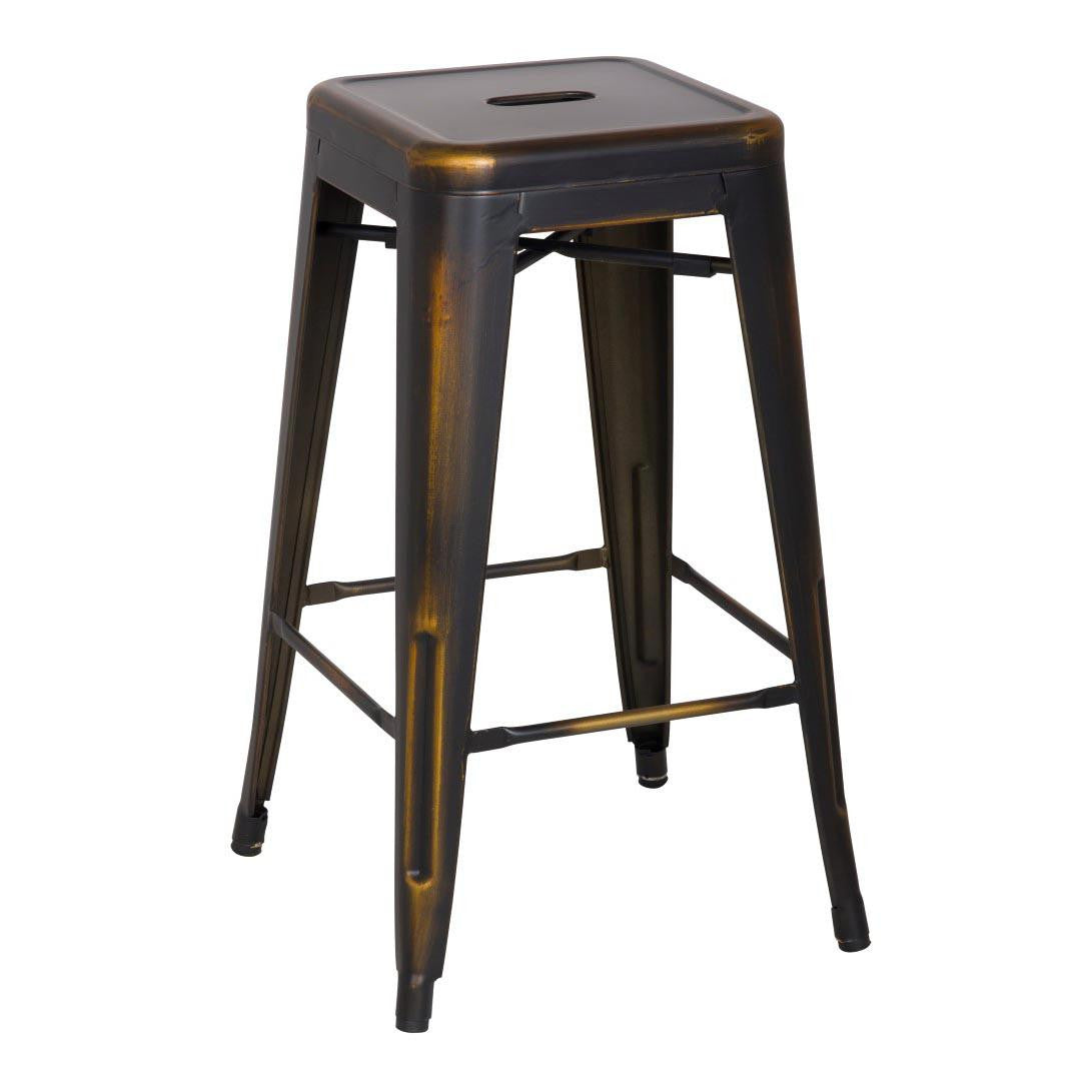 Oxford Metal Counter Stool- Set of 4 DISTRESSED COPPER