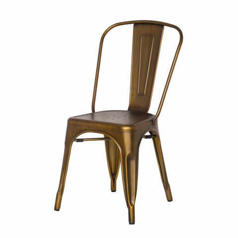 Oxford Metal Chair- Set of 4 BRUSHED COPPER - Apt2B - 1