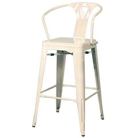 Oxford Metal Counter Chair- Set of 4 WHITE - Apt2B