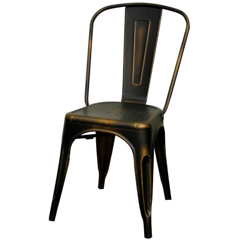 Oxford Metal Chair- Set of 4 DISTRESSED COPPER - Apt2B