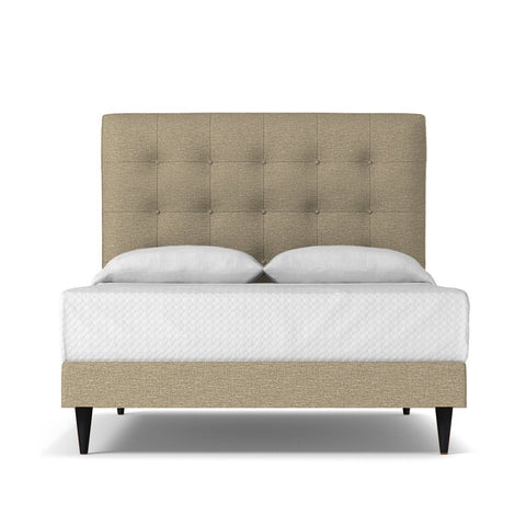 Palmer Drive Upholstered Bed EASTERN KING in TAUPE - CLEARANCE