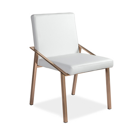 Penrose Dining Chair GOLD/POLISHED STEEL - Apt2B - 1