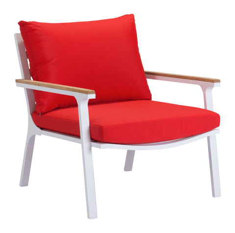 Pier Ave Outdoor Arm Chair - Set of 2 WHITE/RED